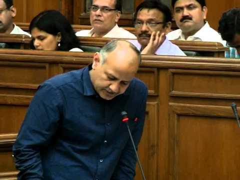 Dy CM Manish Sisodia introduced The Delhi Netaji Subhas University of technology bill, 2015