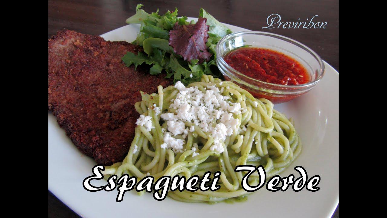 Como Preparar Espagueti Verde Green Spaghetti Video 159