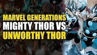 The Mighty Thor vs Unworthy Thor! (Marvel Generations: Thor)