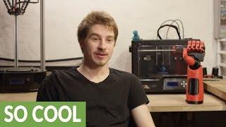 'Phantom Pain' prosthetic hand from 3D printer