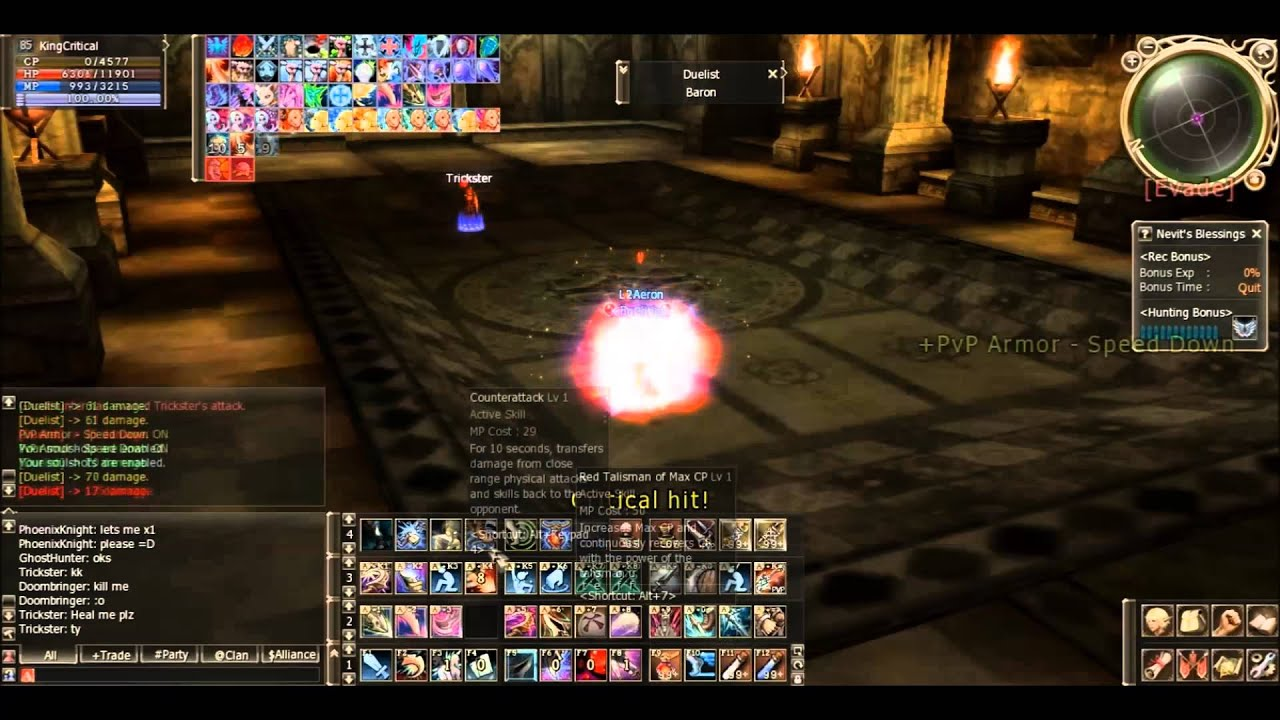 Lineage II Aeron, Dagger pvp By KingCritical Gameplay 2