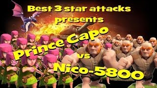 Clash of Clans-top raids-PRINCE CAPO'S 3 star attack