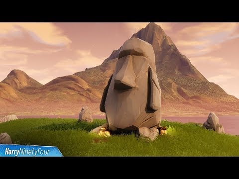 Fortnite Battle Royale - All Stone Heads Locations Guide (Season 5 Challenge)