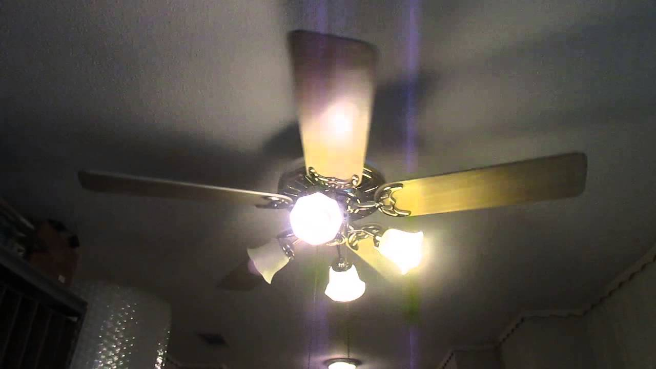 1990s 52 Quot Hunter Comfort Breeze Ceiling Fan Youtube
