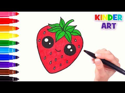 Как нарисовать клубнику карандашом
