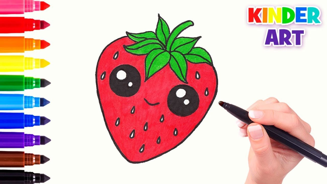 how to draw strawberries texture
