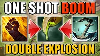 One Shot Caustic Finale EXPLOSION [Sleight of Fist + Anchor Smash] Dota 2 Ability Draft