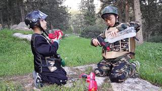 """Реальные войнушки #2 """" Битва в лесу..."""" ( часть 1) весёлые боевые учения детей в Израиле )))"""