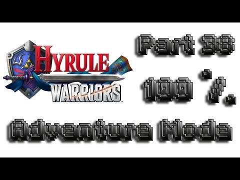 Hyrule Warriors English Adventure Mode 100% Walkthrough Part 38 (All Items Skultulas Hearts G15-A14