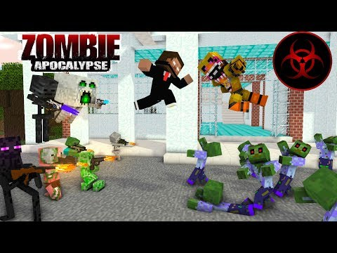 Monster School : ZOMBIE APOCALYPSE  With (FNAF) - Minecraft Animation