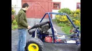 mini baja modifié moteur rotax 503cc (premier test sans freins)