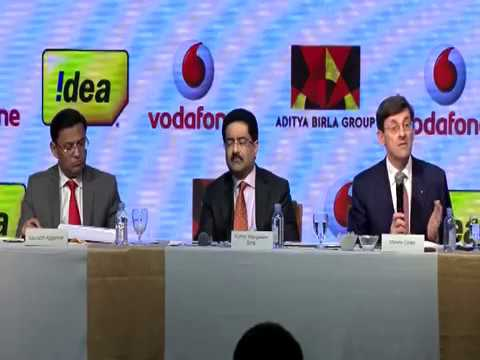 EXCLUSIVE : Kumar Manglam Birla and Vittorio Colao Joint Press Conference announcing merger.