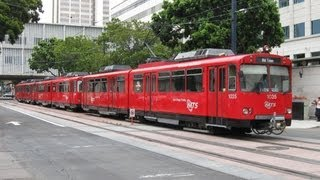 MTS San Diego Trolley In Downtown San Diego