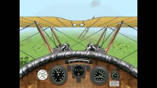 Red Baron 3D: Gameplay on Windows 7, 8.1, 10 with Glide, 3dfx, 1920x1080
