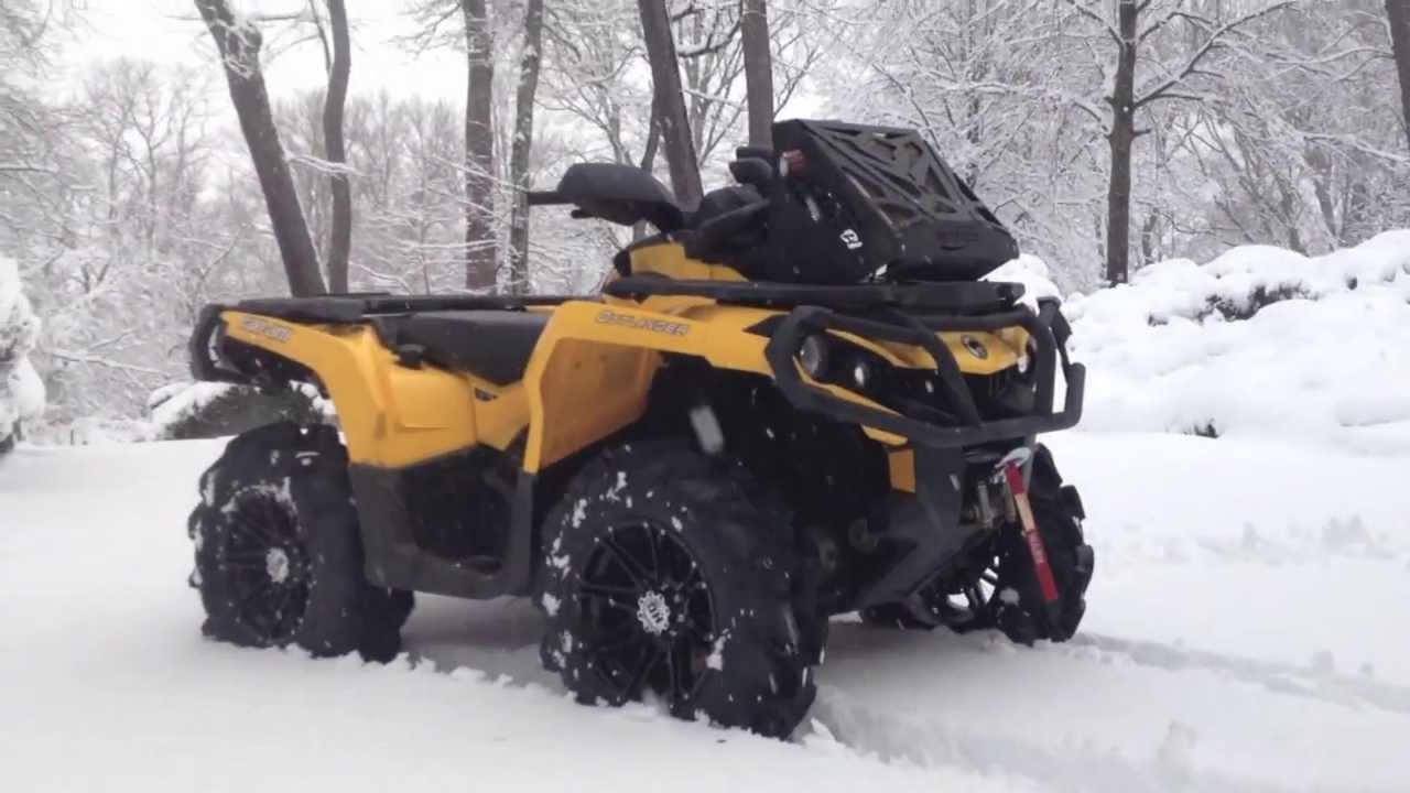 Can Am Outlander- WTFO Snow Riding with Mega Mayhems - YouTube