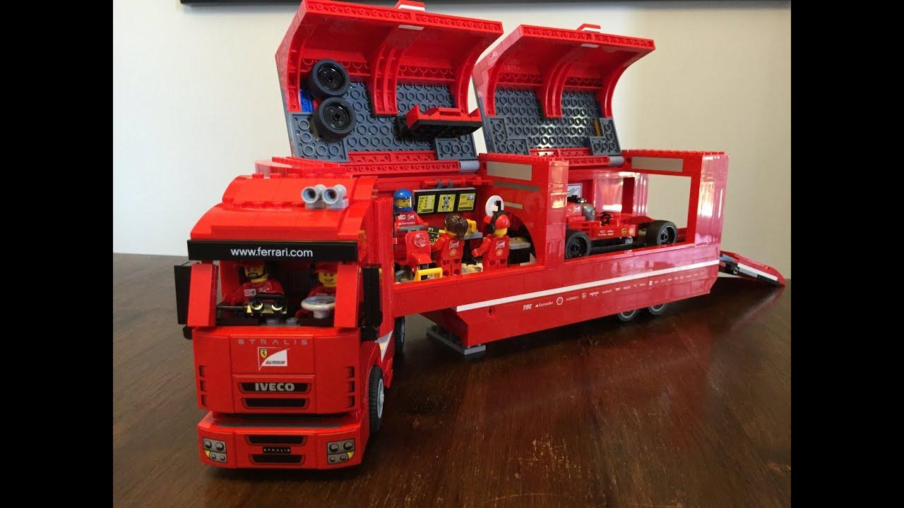 lego 75913 speed champions f14 t scuderia ferrari truck. Black Bedroom Furniture Sets. Home Design Ideas
