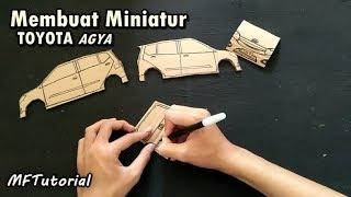 Cara Membuat Miniatur Mobil Toyota Agya Dari Kardus | Ide Kreatif