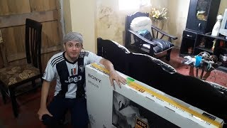Unboxing TV 4K Sony Bravia X75F HDR 49´´ con Logan