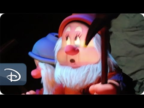 Full 3D Audio-Animatronics in Seven Dwarfs Mine Train | Walt Disney World