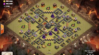 Clash of Clans- CB LaLoon 3 Star on Max Town Hall 9 Using Only Dark Spells