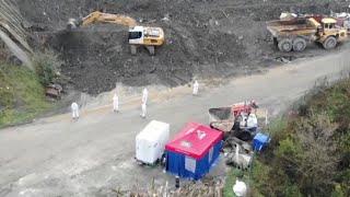 Continúa la búsqueda de trabajadores sepultados en Zaldíbar