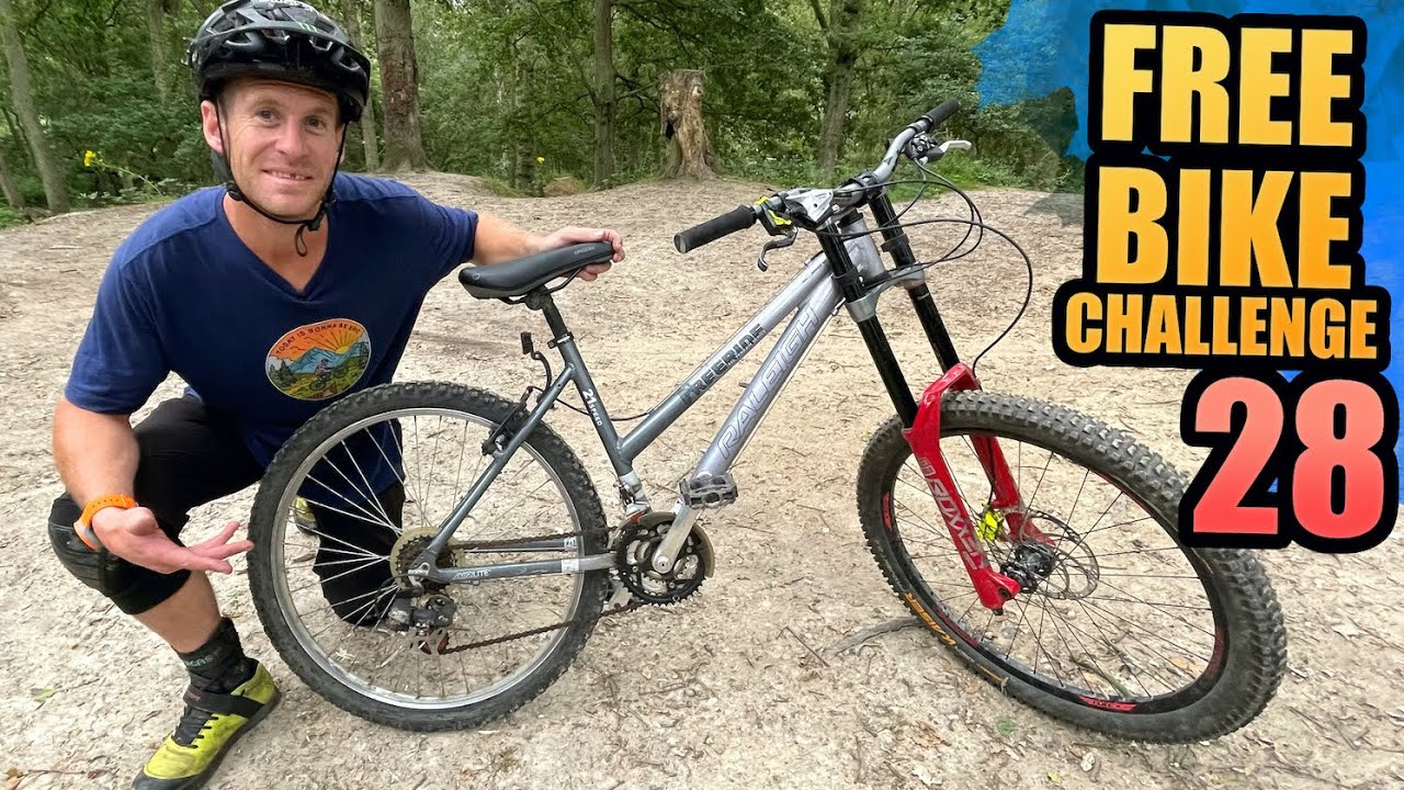 THE FREE BIKE CHALLENGE - PART 28 - WOMEN'S FREERIDE MTB WITH DOWNHILL FORKS!