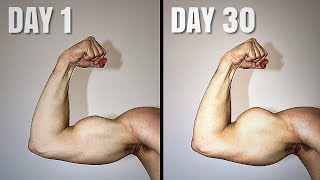 I did 100 Bicep Curls everyday for 30 Days   RESULTS