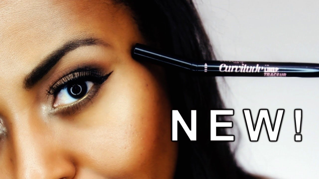 5367ab423fb NEW Maybelline Curvitude Liquid Eyeliner Demo & Review Video I ByBare