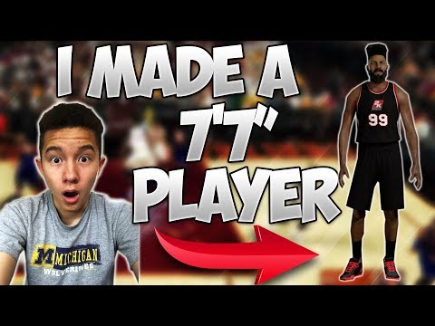 """I MADE A 7'7"""" CENTER!! HE CAN DUNK WITHOUT JUMPING!? - NBA 2K17"""