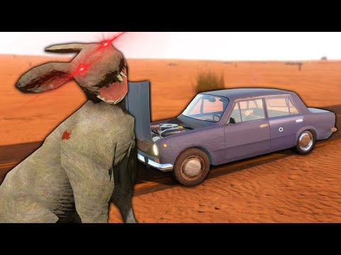 ZOMBIE RABBITS Attack Me & My Car In The NEW Update In The Long Drive!