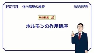 【生物基礎】 体内環境の維持40 ホルモンの作用機序(13分)