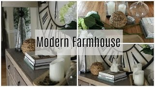 Decorate With Me: Spring Modern Farmhouse Entryway Console Table