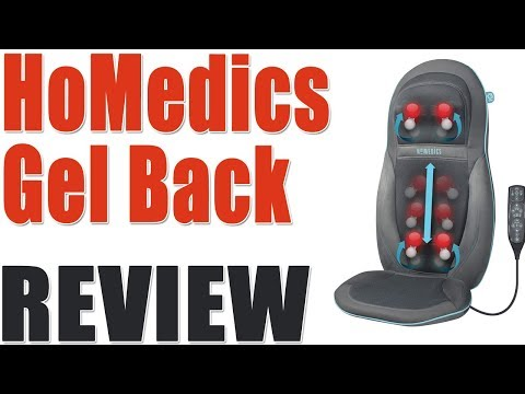 HoMedics Gel Back Massager Massage Chair Pad Seat Cover Review 2019