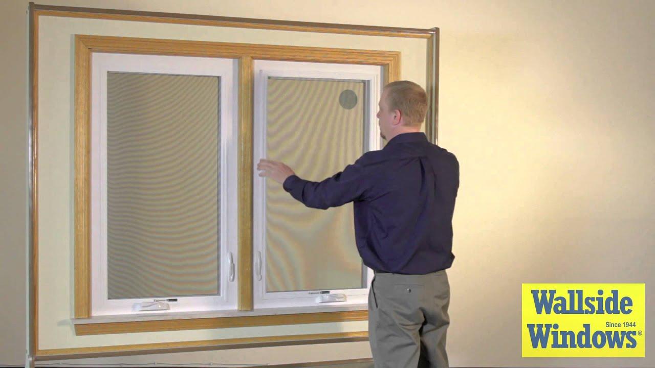 Casement Window Screens : Casement window screen operation youtube