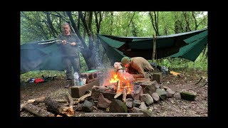 Extremely wet weather hammock  camp 2 nights