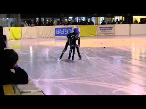 2013-01-05 VK Eeklo, Relay 3000m, Bob Kiss, Kyle Aerens, Jacob Dewagtere, Bavo Coremans