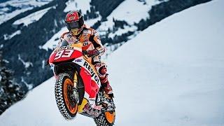 Marc Marquez con su MotoGP por la nieve de Austria