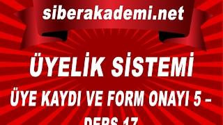 Üyelik Sistemi - Üye Kaydı ve Form Onayı 5 – Ders 17