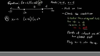 MAT 171 - EP 13 - Quadratic Inequalities with the Greater Than Sign