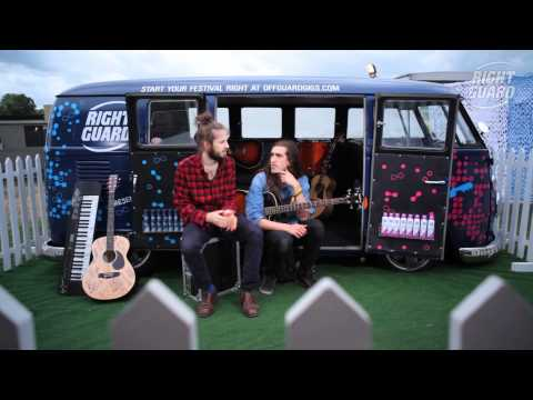 Exclusive interview with Crystal Fighters for OFF GUARD GIGS at Lovebox, London, 2012