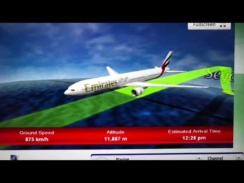 Boeing 777-300ER Take Off Seychelles International Airport Views Above Mahe Island Victoria