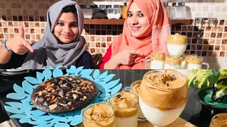 200K+Special Video Sheza's first cooking Cake recipe Trending Dalgona Coffee Tastetours Shabnahasker