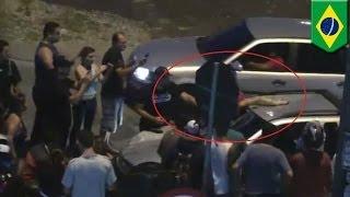 Пьяный водитель проехал 6 км с погибшим велосипедистом на лобовом стекле