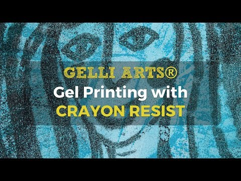 Gel Printing with Crayon Resist