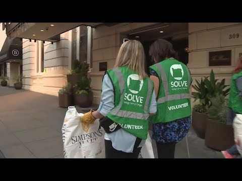 Volunteers Comb Through Downtown Portland Streets For SOLVE's Second Litter Cleanup This Month