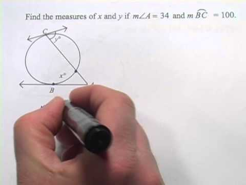 Angles and Arcs Formed by Tangents, Secants, and Chords - YouTube