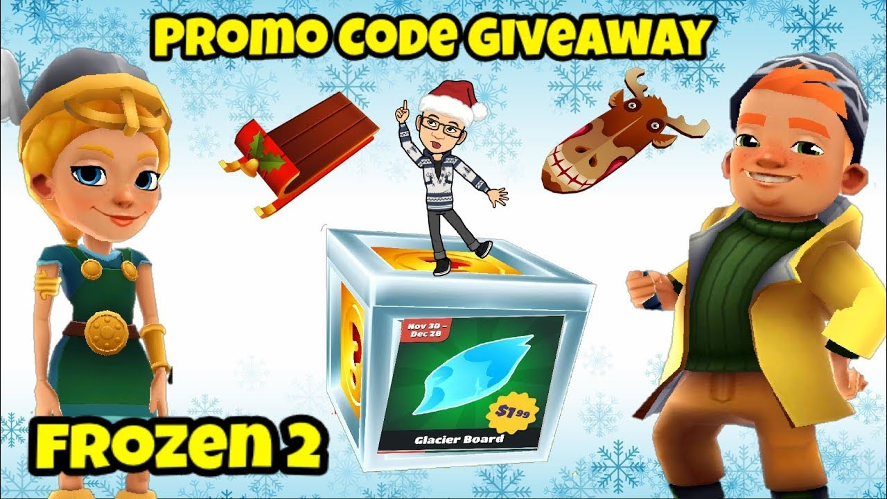 Subway Surfers Free Promo Code Giveaway Frozen Pack 2 Marco