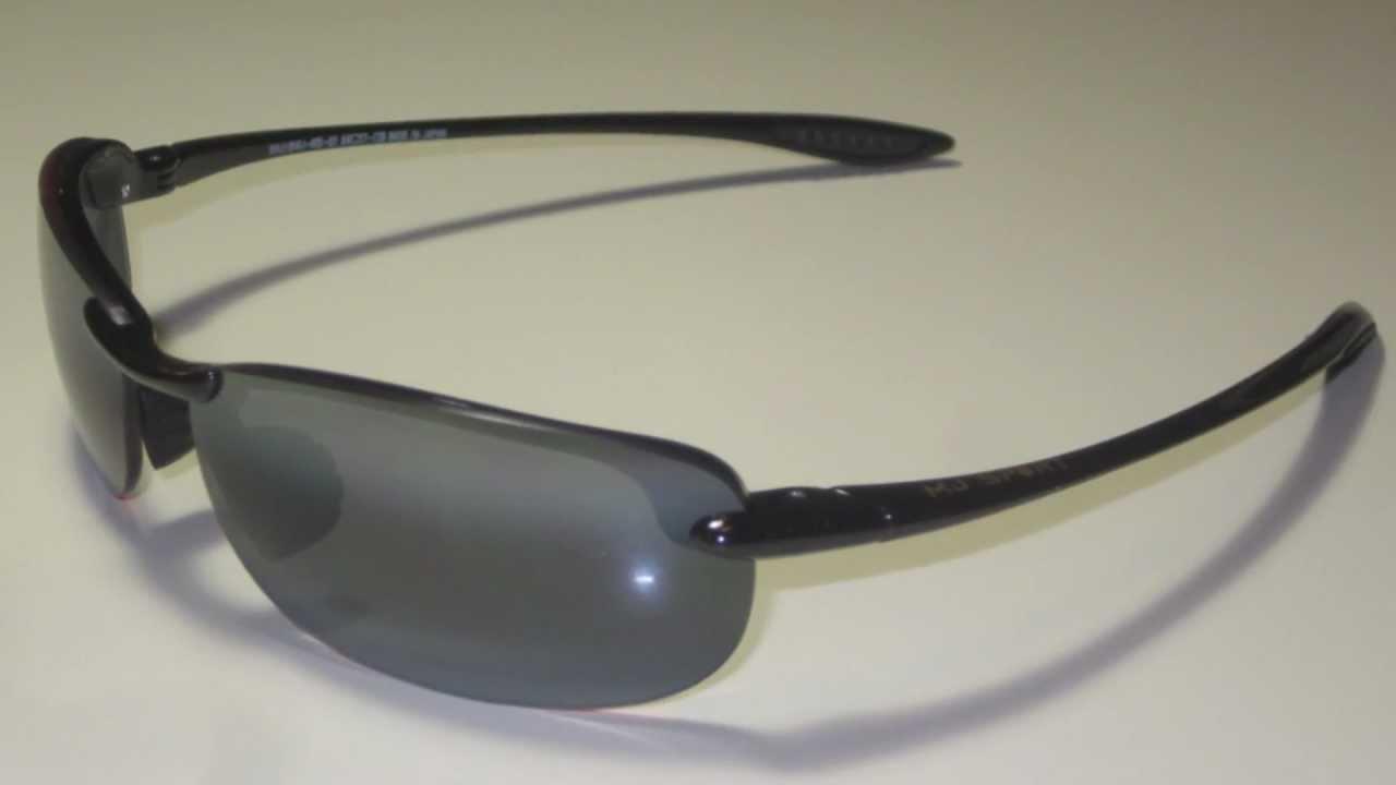 0fff37c7302ad Maui Jim Makaha MJ405-02 Glossy Black Polarized Sunglasses - YouTube