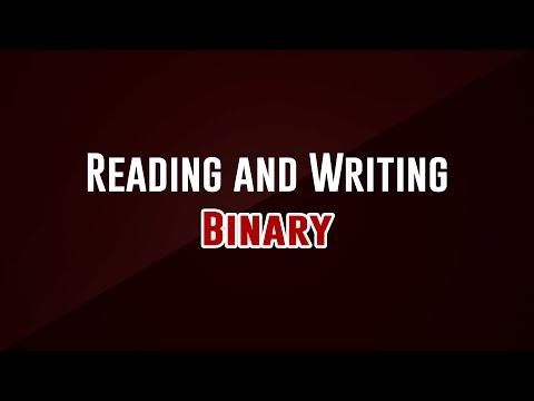 Reading and Writing Binary