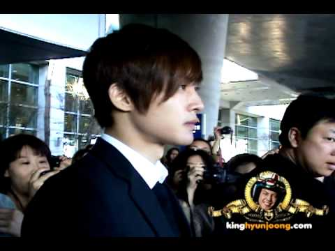 download 120325 KIM HYUN JOONG fancam - Incheon Intl' Airport (Arrival from Shanghai, China)